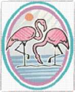 pattern Weather Sun Animals Flamingo