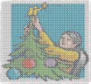 pattern People Men Plants Trees Holidays New Year